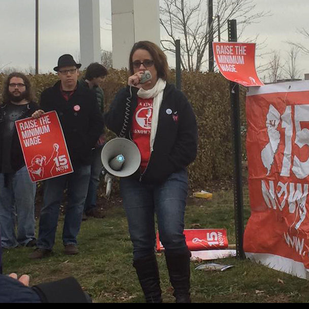 Melissa Tomlinson speaks at 15 Now event in Passaic New Jersey